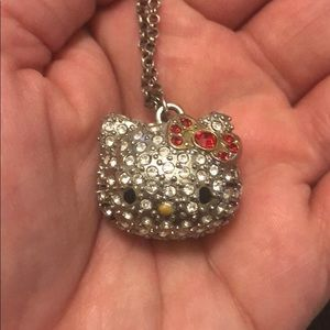 Hello Kitty Swarovski crystal studded necklace.